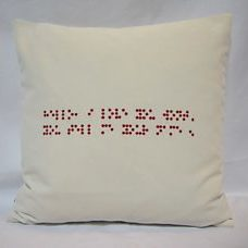 Pillow 40x40 with braille writing