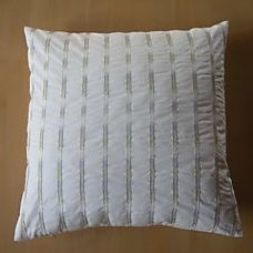 Pillow 40x40 white with embroidery