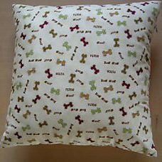 Pillow 35x35 dog bone big